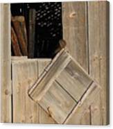 Fence Posts In Barn Canvas Print