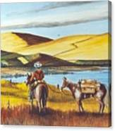Fence Rider Going Home Canvas Print