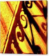 Fence Shadows 5 Canvas Print