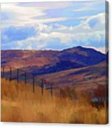 Fence Views Wyoming Color Canvas Print