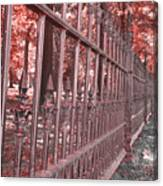 Fenced In Red Canvas Print