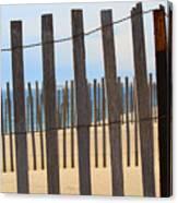 Fenced Off Beach Canvas Print
