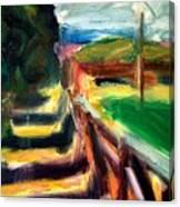 Fenced Parcels Canvas Print