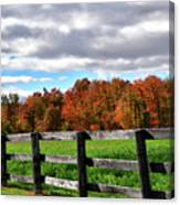 Fences, Fields And Foliage Canvas Print