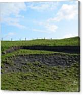 Fencing Along A Field Above The Cliff's Of Moher Canvas Print
