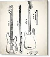 Fender Precision Bass Patent 1952 Canvas Print