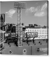 Fenway Park Green Monster Wall Bw Canvas Print