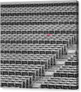 Fenway Park Red Chair Number 21 Bw Canvas Print