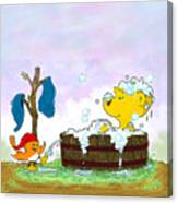 Ferald's Bubble Bath Canvas Print