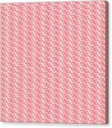 Fermat Spiral Pattern Effect Pattern Red Canvas Print