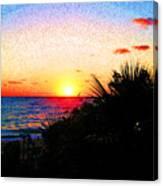 Fernandez Bay Sunset Canvas Print