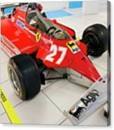Ferrari 126ck Front Right Museo Ferrari Canvas Print