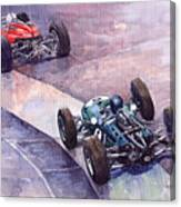 1964 Ferrari 158 Vs Brabham Climax German Gp 1964 Canvas Print