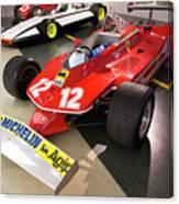 Ferrari 312t4 Front Left Museo Ferrari Canvas Print