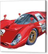 Ferrari 412p 330 P4 1967 Le Mans Canvas Print