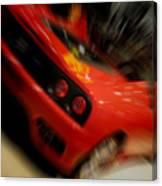 Ferrari Action Canvas Print