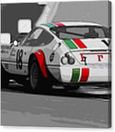 Ferrari Daytona 365 Gtb4 - Italian Flag Livery Canvas Print
