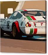 Ferrari Daytona - Italian Flag Livery Canvas Print