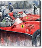 Ferrari Dino 246 F1 1958 Mike Hawthorn French Gp  Canvas Print