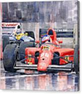 1991 Ferrari F1 Jean Alesi Phoenix Us Gp Arizona 1991 Canvas Print