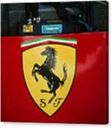 Ferrari F1 Sidepod Emblem Canvas Print