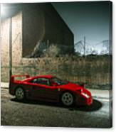 Ferrari F40 Lurking Canvas Print
