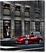 Ferrari In Rome Canvas Print