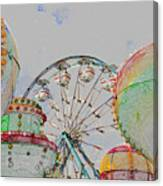 Ferris Wheel And Balloons Canvas Print