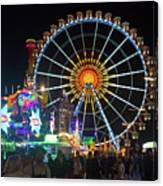 Ferris Wheel At Night Canvas Print