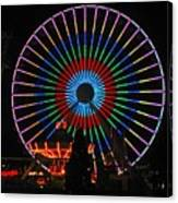 Ferris Wheel In Wildwood New Jersey Canvas Print