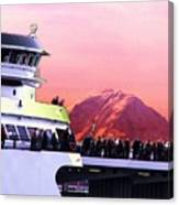 Ferry And Da Mountain Canvas Print