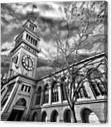 Ferry Building Black  White Canvas Print