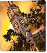 Ferry Building Golden Sun Canvas Print