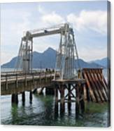 Ferry Dock And Pier At Porteau Cove Canvas Print
