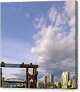 Ferry Dock At Granville Island In British Columbia Canvas Print