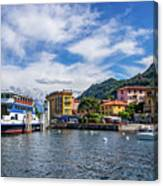 Ferry Dock In Varenna Canvas Print