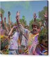 Festival Of Color Canvas Print