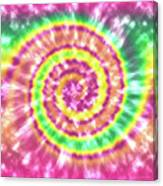 Festival Spiral Bright Colors- Art By Linda Woods Canvas Print