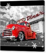 Festive Chevy Truck Canvas Print
