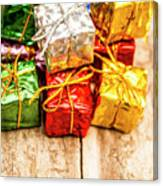 Festive Greeting Gifts Canvas Print