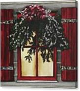 Festive Window Canvas Print