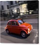 Fiat 500, Italy Canvas Print