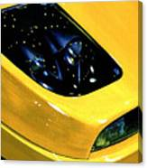 Fiat Coupe In Yellow Canvas Print