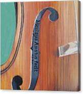 Fiddle I Canvas Print