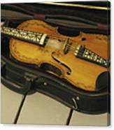 Fiddle In Case Canvas Print