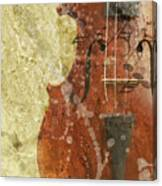 Fiddle In Grunge Style Canvas Print