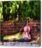 Fiddle On The Garden Wall Canvas Print