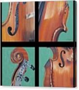 Fiddle Quartet Canvas Print