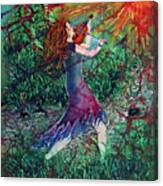 Fiddler Of The Forest  2 Canvas Print