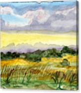 Field And Sky 2 Canvas Print